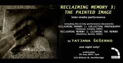 RECLAIMING MEMORY 3: THE PAINTED IMAGE